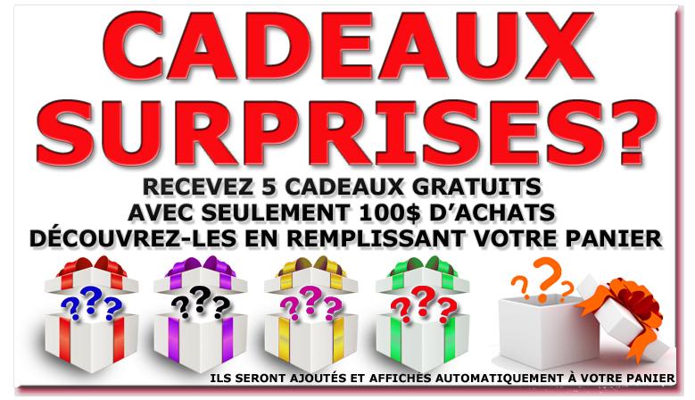 Cadeaux gratuits